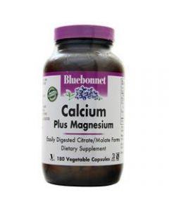 Calcium Citrate Plus Magnesium 180 Caplets Bluebonnet