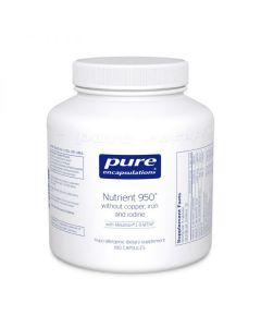 Nutrient 950 without Copper, Iron & Iodine 180 Capsules Pure Encapsulations