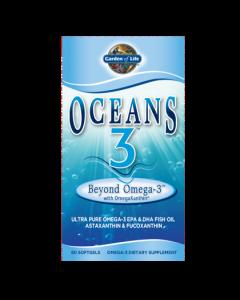 Garden of Life Omega 3  Oceans 3 Beyond  60 Softgels
