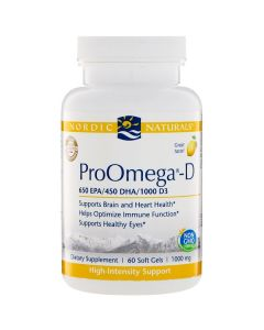 Nordic Naturals ProOmega & D3 60 soft gels 1000 mg each